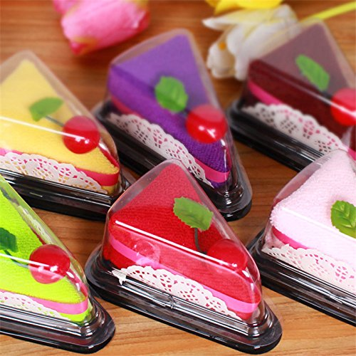 5 x Sweet Treats Käsekuchen-Handtuch für Hochzeiten und Partys, als Geschenk für Babys