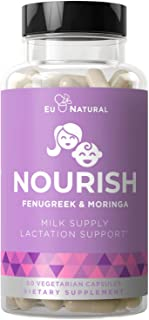 Nourish Lactation Support Postnatal Vitamins – Nutritious Milk Supply, Colic Gas Relief, Let Down Pills – F...