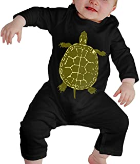 Infant Baby Girl Boys Native American Turtles Long Sleeve Bodysuit, Printed Cotton Bodysuits Coverall Jumpsuit
