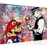 Bilder Mario and Cop Banksy Wandbild 120 x 80 cm Vlies -