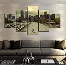 YOPDNE Modular Picture Hd Print Canvas Frame Painting Family Wall Art Photo Decoration5Board Movie Walking Dead Meat Landscape Poster