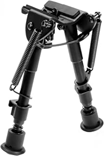Ohuhu 6-9 Inches Tactical Rifle Bipod Adjustable Spring Return Adapter for Picatinny, Upgrade