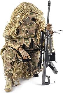 SXPC Simulación Militar Personaje de acción de Francotirador de 12 Pulgadas 1: 6 Soldado del ejército con Rifle de Francotirador, Jungla, Traje propicio, Modelo de Juguete