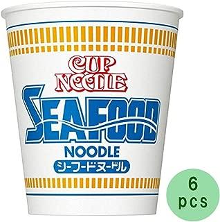 Cup Noodle Seafood 2.6oz 6pcs Japaneese Instant Noodle Cup Ramen Nissinn Ninjapo