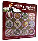 Magnum Taste of the Exotic 12 Coffees of Christmas, Single Serve, 12 Count