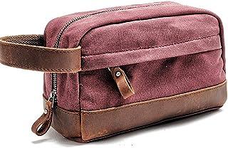 Travel Toiletry Bag,Canvas Bag, Shaving Bag,Toiletry Organizer Beach Bag,Black Gray