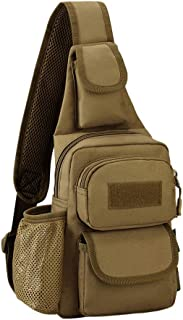 Genda 2Archer-Protector Plus Small Waterproof Chest bag Sling Backpack, Fits Mini ipad (5 Brown)