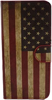 TCD for Samsung Galaxy S6 American Flag USA PU Leather Case Wallet with Credit Card Slots Includes [Free Screen Protector and Stylus Pen] Verizon, AT&T, T-Mobile etc