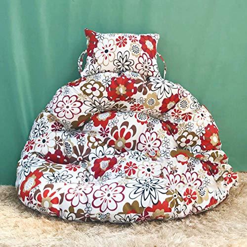 Cojín de Asiento abatible, Cojines de Silla Hamaca Thick Nest Multi Color Respaldo de Silla Colgante Sin Silla-E