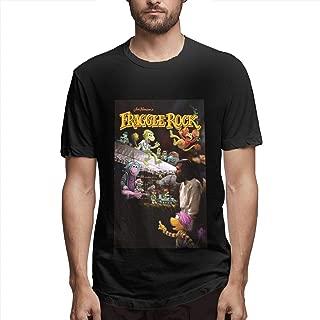 Mens Short Sleeve Fashion Tees Fraggle Rock Black Fresh Clean Tees T Shirt