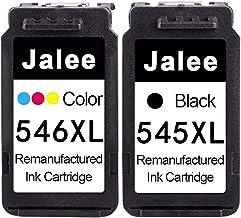 Jalee 2× Cartuchos de Tinta refabricado para Usar en Lugar de Canon PG-545 CL-546 XL Compatible para Canon PIXMA MX495TS3150 TS3151 MG2400 MG2450 MG2500 MG2550 MG2550S MG2555 MG2555S MG2950 MG2950S