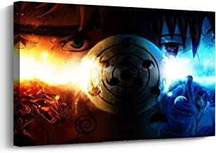 Fukcarry Japanese Anime Naruto Art Decor Framed Print Canvas Poster Painting Wall Decor 12 x 16 Inch