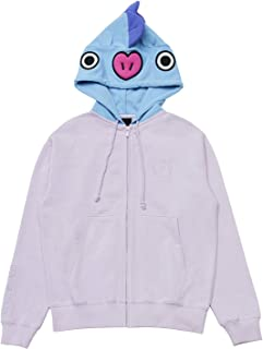 BT21 Official Merchandise Character French Terry Hoodie Sweatshirts for Men and Women