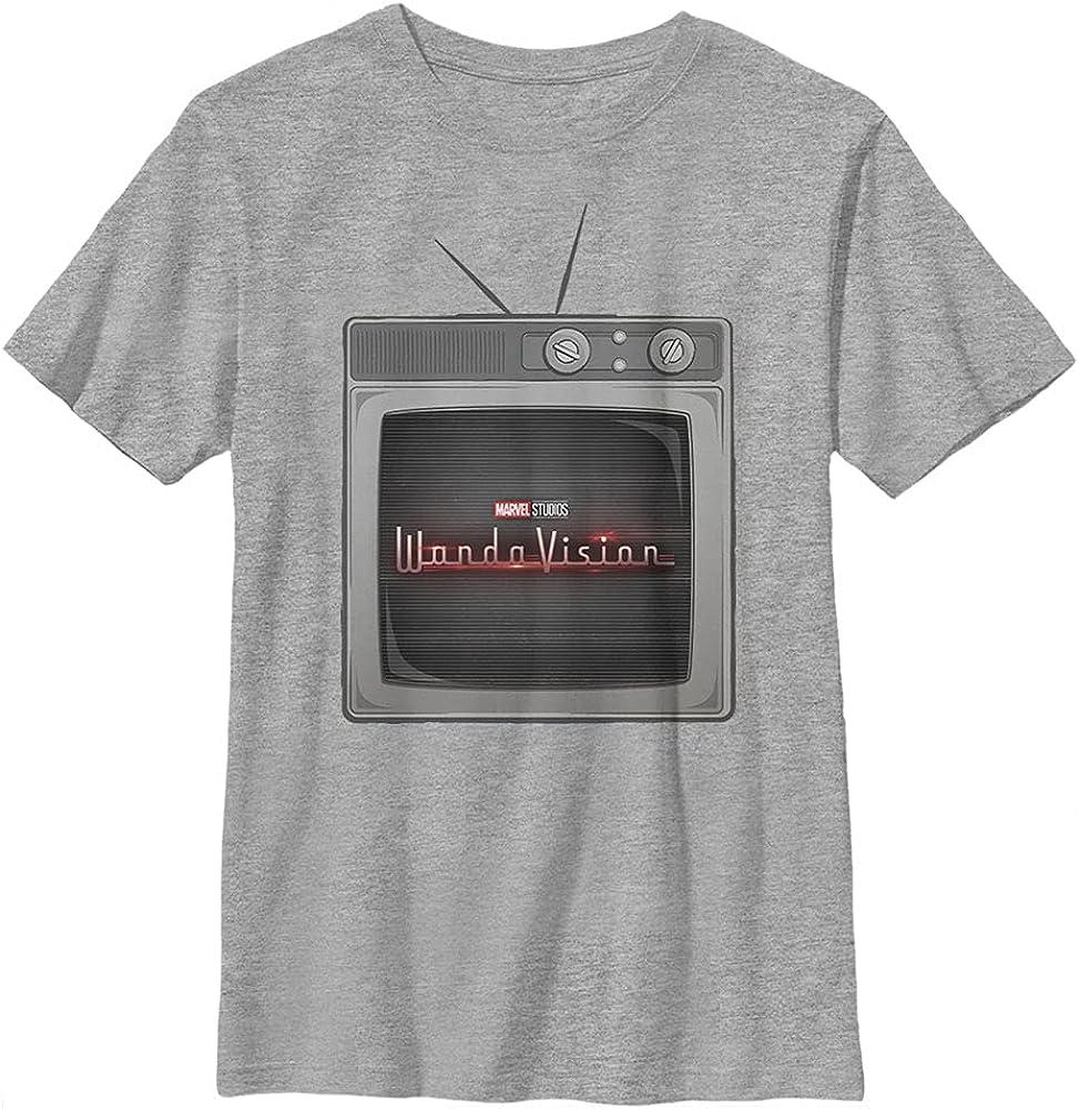 Marvel Film Wandavision Wanda Tv Boy's Heather Crew Tee