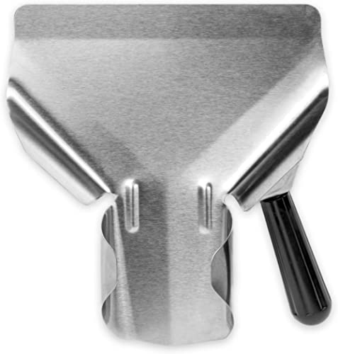 Stainless Steel Popcorn Scoop – Easy Fill Tool for Bags & Boxes, Great Utility Serving Scooper for Snacks, Desserts, ...