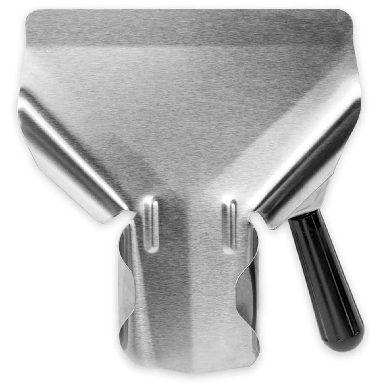 Stainless Steel Popcorn Scoop – Easy Fill Tool for Bags & Boxes, Great Utility Serving Scooper for Snacks, Desserts, Ice, & Dry Goods by Back of House Ltd.