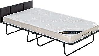 Plegatin, cama plegable con colchoneta y tablero superior,