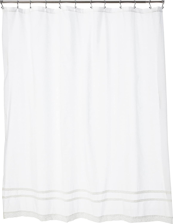 Laura Ashley Ranking TOP17 Home Annabella Shower New Orleans Mall Machine Curtain-100% Cotton