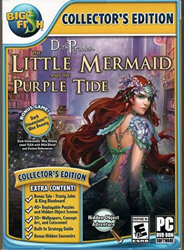 Dark Parables THE LITTLE MERMAID and THE PURPLE TIDE Hidden Object Adventure PC Game + Bonus