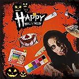 Halloween Carnaval Scary Decoración Props Set Horror Tricky Knife Diadema Herida Cicatriz Tatuaje Etiqueta Máscara Pintura Corporal Pinturas Maquillaje
