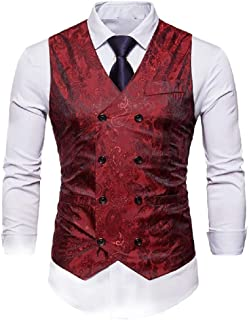 5809a9b256e18 Coolred Mens Premium Select Simple Plus Size Classic Separate Waistcoat