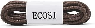 Round Waxed Dress Shoe Laces - ECOSI Oxfords Shoelaces For Men Women