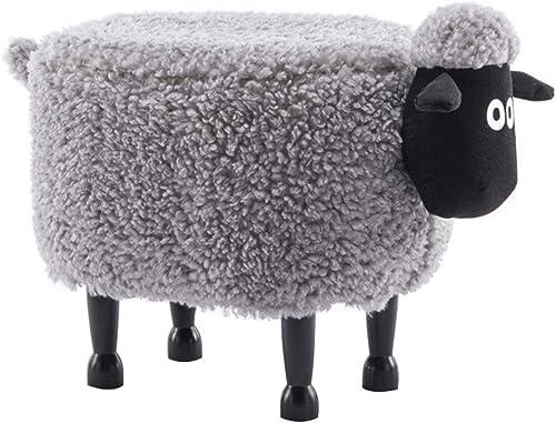 OUG Cartoon Tier Shawn Sheep Hocker Hause Massivholz Fluffy Schuhe Hocker Sofa Gast Fu nk Erwachsene Kinder