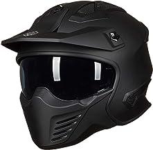 ILM Open Face Motorcycle 3/4 Half Helmet for Moped ATV Cruiser Scooter DOT (Matte Black, L)