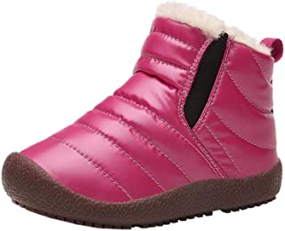 FJWYSANGU Boys Girls Warm Snow Boots Winter Shoes Outdoor Boots Water Repellent (Toddler/Little Kid/Big Kid)