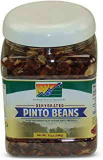 Mother Earth Products Dehydated Pinto Beans FAST COOKING (One Full Quart Plastic Jar)