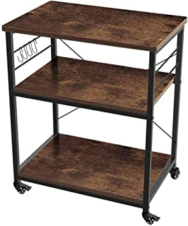 AZL1 Life Concept 3-Tier Kitchen Rack Utility Microwave Oven Stand Movable Cart Workstation Shelf Pantries, 23.72 inches, ...