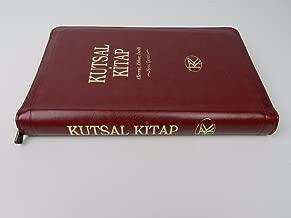 Turkish Burgundy Zippered Leather Holy Bible / Kutsal Kitap: Tevrat, Zebur, Incil / Yeni Ceviri