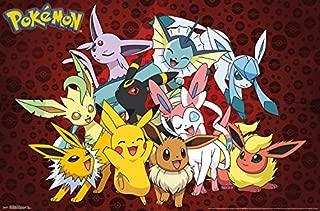 24.25 x 35.75 Trends International Pokemon Kanto Trio Wall Poster Multi