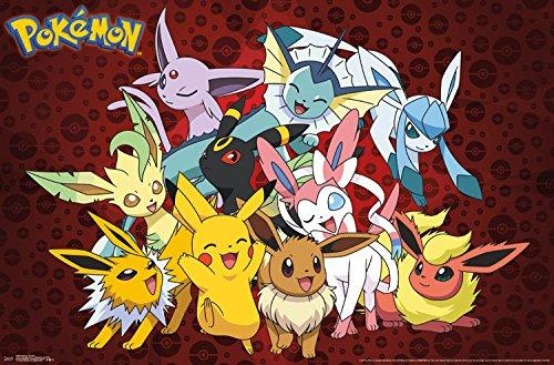"Trends International Pokemon Favorites Wall Poster 22.375"" X 34"""