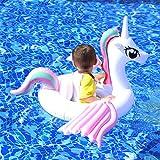 LBZJD Kinder Aufblasbare Schwimmen Ring-Kreis-Einhorn-Baby-Pool Spielzeug Float Strand Paddeln Wasserversorgung Doppelschwebebett Princess Pferdeberg