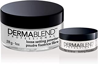 Dermablend Loose Setting Powder Makeup Gift Set, Translucent Powder Kit for Face Makeup, Mattifying Finish and Shine Contr...
