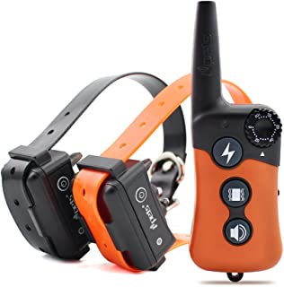 Ipets Petrainer 619S-2 Dog Shock Collar with Remote 100% Waterproof & Rechargeable Dog Training Collar with Beep Vibrating Electric Shock Collar Dogs (10-100lbs)