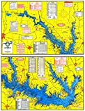 Topographical Fishing Map of Lake Sam Rayburn (Rayburn Reservior) - with GPS Hotspots