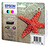 Epson Multipack 4 Colores 603 | Tinta Original | Cartuchos para: Expression XP-2100, XP-2105, XP-3100, XP-3105, XP-4100, XP-4105 y Workforce WF-2810, WF-2830, WF-2835, WF-2850