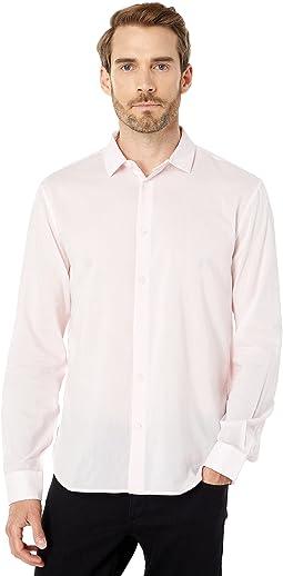 Ross Slim Fit Long Sleeve Sport Shirt Bluff Edge Shirt Tail Hem W675X1B
