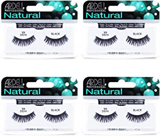 Ardell Natural Lashes False Eyelashes 101 Black Demi (4 pack)