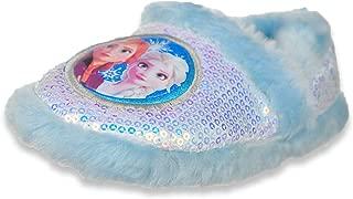 Disney Frozen Girls' Furry-Trimmed Slippers