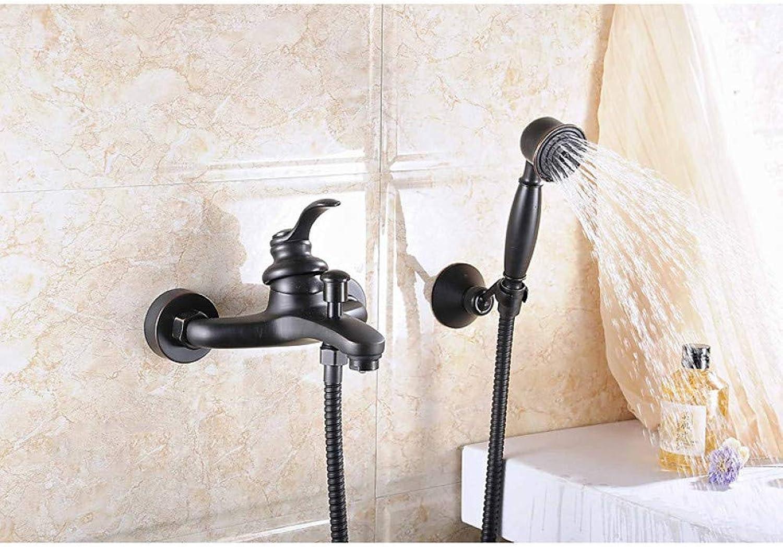 DFRQJHQGH Badewanne Wasserhahn - Antik l Eingerieben Bronze Keramikventil Bad Dusche Mischbatterien Messing Einhand Zwei Lcher