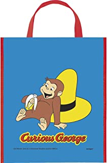 Large Plastic Curious George Goodie Bag, 13 x 11