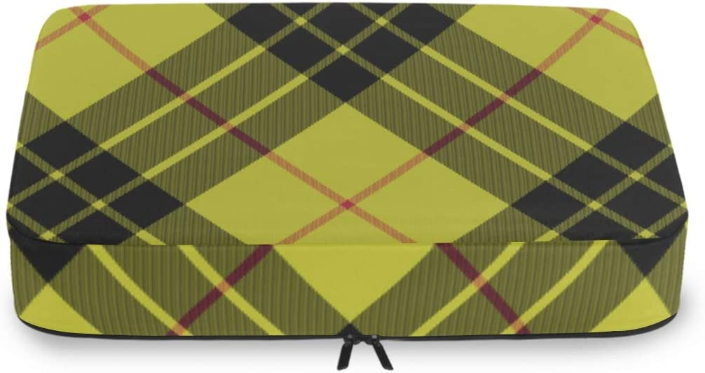Packing Cubes Organizers Yellow Trav Tartan Abstract Direct sale Sales for sale of manufacturer Plaid