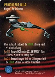 Klingon Battle Cruiser Star Trek: The Card Game, Starfleet Maneuvers - Fleer/Skybox, 1996