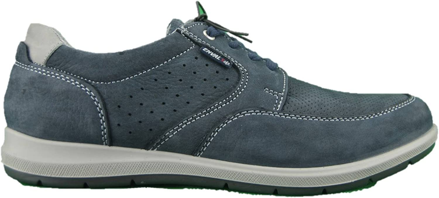ENVAL SOFT 3232922 bluee Nubuck Leather shoes with Memory Foam