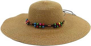 XingKunshop Sun Hat Summer Sun Beach Straw Hat UPF 50 Foldable Wide Brim Straw Cowboy hat Straw Sun Hats Visor Hats Wide Brim Wide Designed for Summer, Pool,Hiking Sunhat,Travel (Color : Yellow)