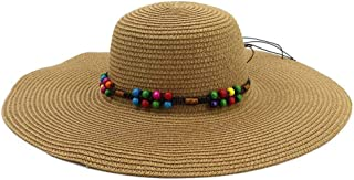 YSNRH Hat Summer Sun Beach Straw Hat UPF 50 Foldable Wide Brim Straw Cowboy hat Straw Sun Hats Visor Hats Wide Brim Wide Designed for Summer, Pool,Hiking Camping,Outdoor,Hiking,Summer