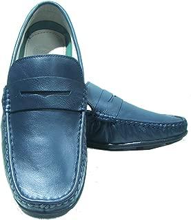 ASM Genuine Leather Moccasins Blue Loafers for Men | Men's Loafers